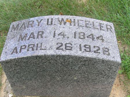 WHEELER, MARY U. - Delaware County, Iowa | MARY U. WHEELER
