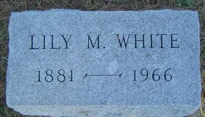 WHITE, LILY M. - Delaware County, Iowa | LILY M. WHITE