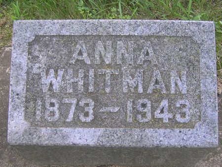 WHITMAN, ANNA - Delaware County, Iowa | ANNA WHITMAN