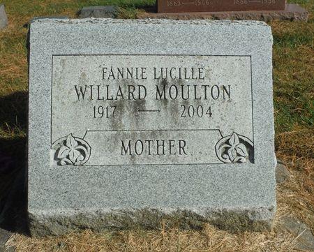 MOULTON WILLARD, FANNIE LUCILLE - Delaware County, Iowa | FANNIE LUCILLE MOULTON WILLARD