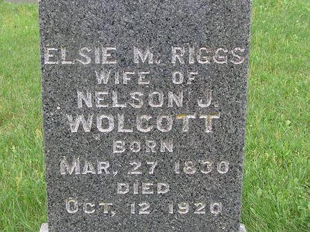 RIGGS WOLCOTT, ELSIE - Delaware County, Iowa | ELSIE RIGGS WOLCOTT