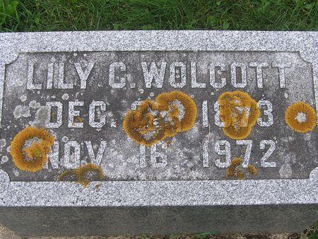WOLCOTT, LILY C. - Delaware County, Iowa   LILY C. WOLCOTT