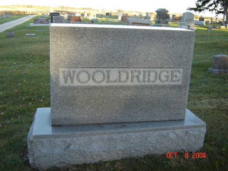WOOLDRIDGE, FAMILY STONE - Delaware County, Iowa | FAMILY STONE WOOLDRIDGE