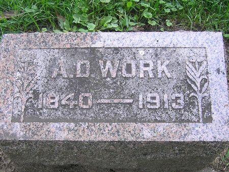 WORK, A. D. - Delaware County, Iowa | A. D. WORK