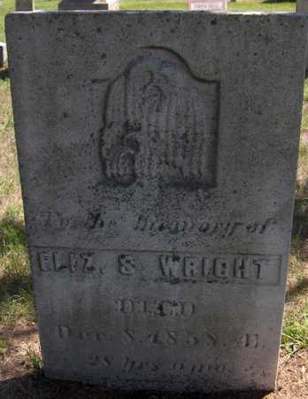 WRIGHT, ELIZABETH S. - Delaware County, Iowa   ELIZABETH S. WRIGHT