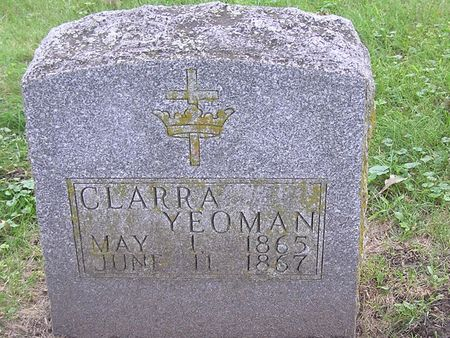 YEOMAN, CLARRA - Delaware County, Iowa | CLARRA YEOMAN