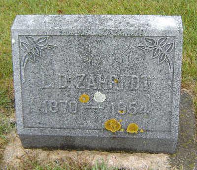 ZAHRNDT, LOUIS D. - Delaware County, Iowa | LOUIS D. ZAHRNDT