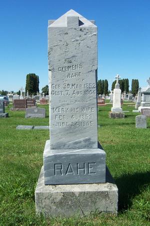 RAHE, MARY - Delaware County, Iowa | MARY RAHE