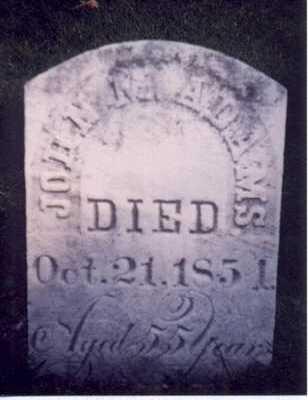 ADAMS, JOHN M - Des Moines County, Iowa   JOHN M ADAMS