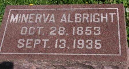 CARTER ALBRIGHT, ALISY MINERVA - Des Moines County, Iowa   ALISY MINERVA CARTER ALBRIGHT