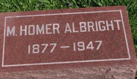 ALBRIGHT, M. HOMER - Des Moines County, Iowa | M. HOMER ALBRIGHT