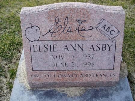 ASBY, ELSIE ANN - Des Moines County, Iowa | ELSIE ANN ASBY