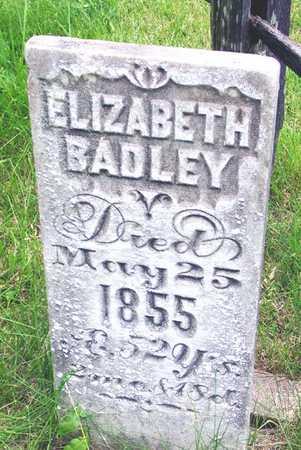 BADLEY, ELIZABETH - Des Moines County, Iowa   ELIZABETH BADLEY