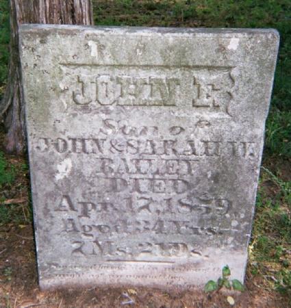 BAILEY, JOHN F. - Des Moines County, Iowa | JOHN F. BAILEY