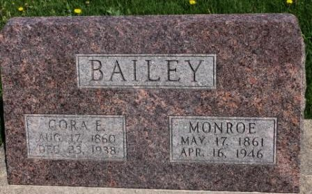 RICE BAILEY, CORA ELICE - Des Moines County, Iowa   CORA ELICE RICE BAILEY