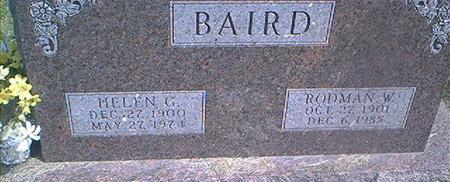BAIRD, HELEN G. - Des Moines County, Iowa | HELEN G. BAIRD