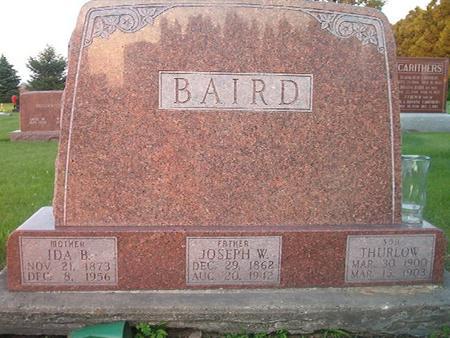 BAIRD, IDA B. - Des Moines County, Iowa | IDA B. BAIRD