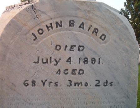 BAIRD, JOHN - Des Moines County, Iowa | JOHN BAIRD