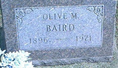 BAIRD, OLIVE M. - Des Moines County, Iowa | OLIVE M. BAIRD