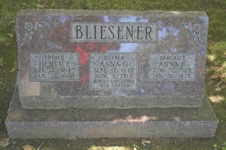 BLIESENER, HENRY F. - Des Moines County, Iowa | HENRY F. BLIESENER
