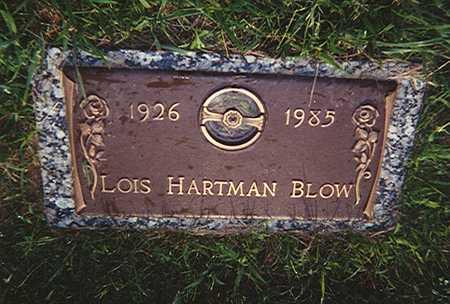 HARTMAN BLOW, LOIS - Des Moines County, Iowa   LOIS HARTMAN BLOW