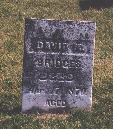 BRIDGES, DAVID M. - Des Moines County, Iowa | DAVID M. BRIDGES