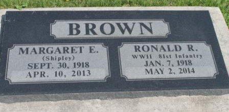 SHIPLEY BROWN, MARGARET E. - Des Moines County, Iowa | MARGARET E. SHIPLEY BROWN