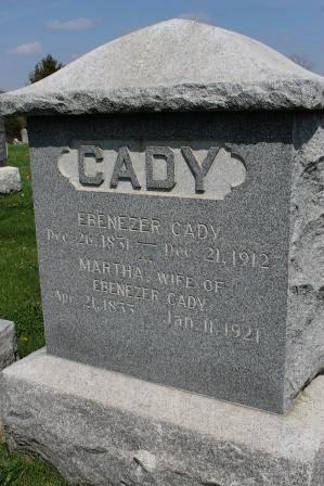 CLINGMAN CADY, MARTHA - Des Moines County, Iowa | MARTHA CLINGMAN CADY