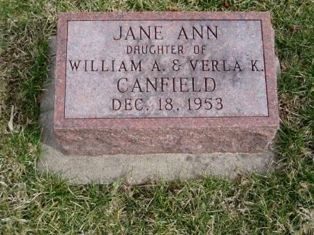 CANFIELD, JANE ANN - Des Moines County, Iowa   JANE ANN CANFIELD