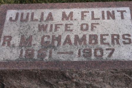 FLINT CHAMBERS, JULIA M. - Des Moines County, Iowa | JULIA M. FLINT CHAMBERS