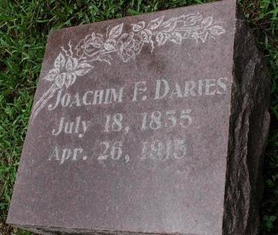 DARIES, JOACHIM F. - Des Moines County, Iowa | JOACHIM F. DARIES