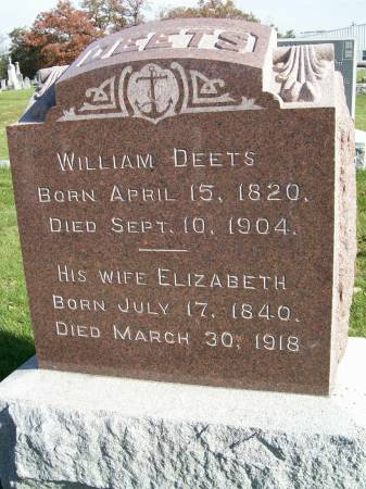 DEETS, WILLIAM - Des Moines County, Iowa   WILLIAM DEETS