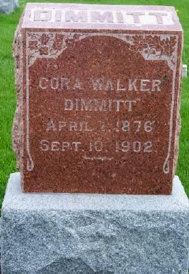 DIMMITT, CORA - Des Moines County, Iowa   CORA DIMMITT