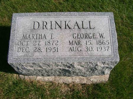DRINKALL, GEORGE W. - Des Moines County, Iowa | GEORGE W. DRINKALL