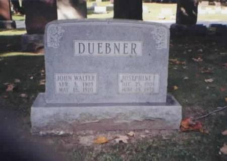 DUEBNER, JOHN WALTER AND JOSEPHINE F. - Des Moines County, Iowa | JOHN WALTER AND JOSEPHINE F. DUEBNER