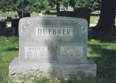 DUEBNER, WALTER H. AND LOUISE C. - Des Moines County, Iowa | WALTER H. AND LOUISE C. DUEBNER