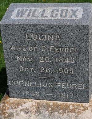 WILLCOX FERREL, RACHEL LUCINDA - Des Moines County, Iowa | RACHEL LUCINDA WILLCOX FERREL