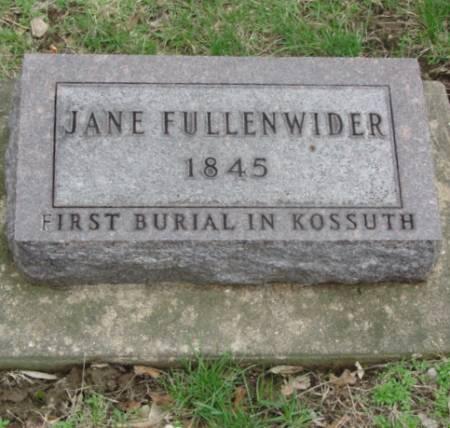 FULLENWIDER, JANE - Des Moines County, Iowa   JANE FULLENWIDER