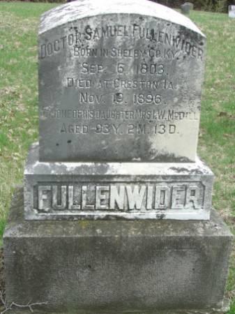 FULLENWIDER, SAMUEL - Des Moines County, Iowa   SAMUEL FULLENWIDER