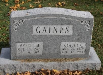 GAINES, CLAUDE C. - Des Moines County, Iowa   CLAUDE C. GAINES