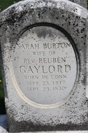 BURTON GAYLORD, SARAH - Des Moines County, Iowa | SARAH BURTON GAYLORD