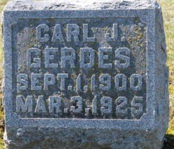 GERDES, CARL JOHN - Des Moines County, Iowa   CARL JOHN GERDES