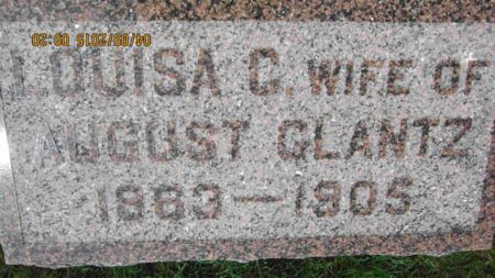 CARLSON GLANTZ, LOUISA CHARLOTTA - Des Moines County, Iowa | LOUISA CHARLOTTA CARLSON GLANTZ