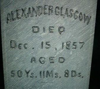 GLASGOW, ALEXANDER - Des Moines County, Iowa   ALEXANDER GLASGOW