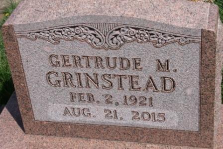 OSBORNE GRINSTEAD, GERTRUDE MAY - Des Moines County, Iowa | GERTRUDE MAY OSBORNE GRINSTEAD