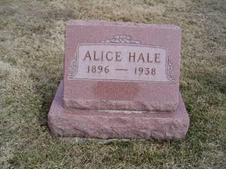 HALE, ALICE - Des Moines County, Iowa | ALICE HALE