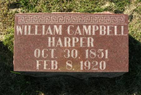 HARPER, WILLIAM CAMPBELL - Des Moines County, Iowa   WILLIAM CAMPBELL HARPER