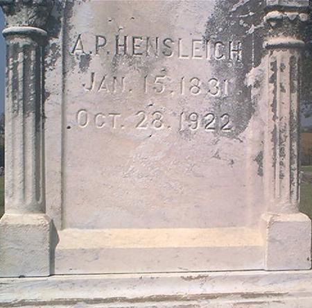 HENSLEIGH, A. P. - Des Moines County, Iowa | A. P. HENSLEIGH