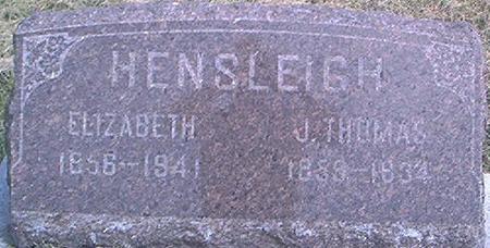 HENSLEIGH, J. THOMAS - Des Moines County, Iowa   J. THOMAS HENSLEIGH