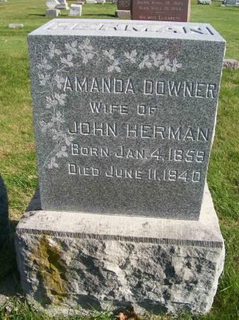 DOWNER HERMAN, AMANDA - Des Moines County, Iowa | AMANDA DOWNER HERMAN